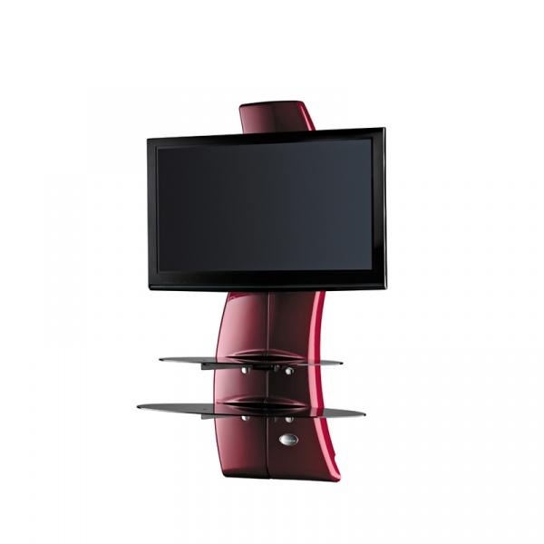 Półka pod TV z maskownicą Meliconi Ghost Design 2000 z rotacją czerwona 488090
