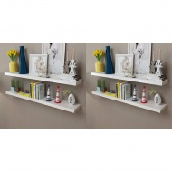 Półki ścienne, 4 szt., białe, 120 cm