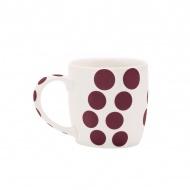 Porcelanowy kubek 0,35 l Zak! Designs Dot kasztanowy