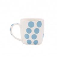 Porcelanowy kubek 0,35 l Zak! Designs Dot niebieski