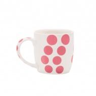 Porcelanowy kubek 0,35 l Zak! Designs Dot różowy