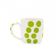 Porcelanowy kubek 0,35 l Zak! Designs Dot zielony
