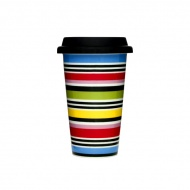 Porcelanowy kubek termiczny 0,25l z pokrywką Sagaform Cafe