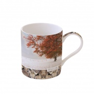 Porcelanowy kubek w kolorowym opakowaniu 350 ml Nuova R2S Wild Life drzewo