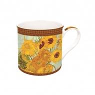 Porcelanowy kubek w opakowaniu 300ml Nuova R2S Art Masterpiece słoneczniki
