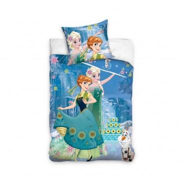 (Pościel 140x200 Carbotex Frozen niebieska