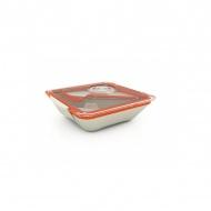 Pudełko na lunch Black+Blum Bon Appetit biało-pomarańczowe