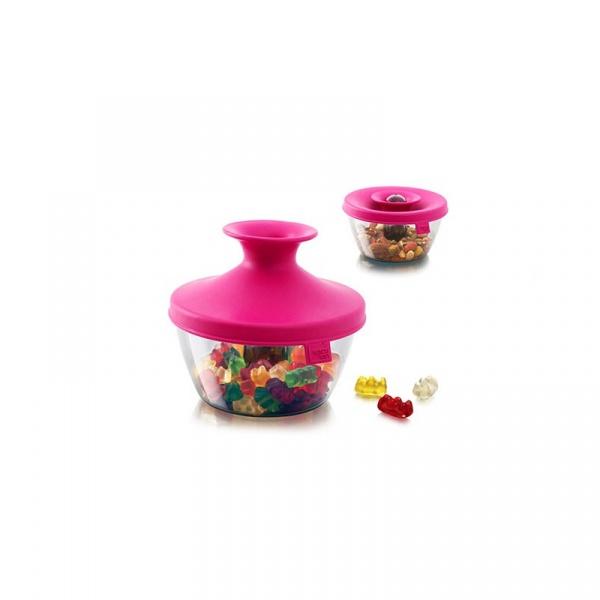 Pudełko na przekąski 0,45l Tomorrows Kitchen HOP różowe TK-2830160