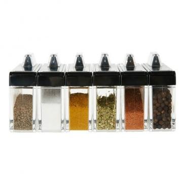 Pudełko na przyprawy + 6 pojemników EMSA Spice Box zielone