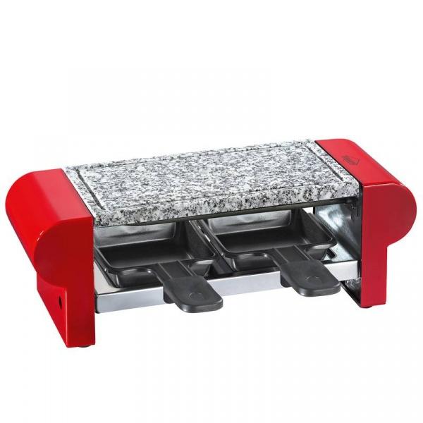 Raclette grill stołowy Kuchenprofi czerwony KU-1780001400