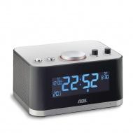 radiobudzik z głośnikiem Bluetooth i funkcją ładowania telefonu, 16 x 12,5 x 12 cm