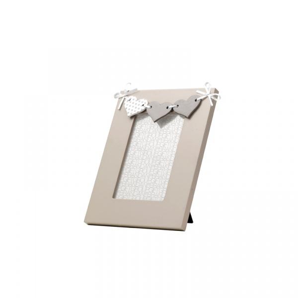 Ramka na zdjęcie 17 x 22 cm Brandani Re Mi Tortora biało-beżowa 55834