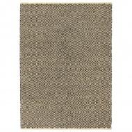Ręcznie tkany dywan Chindi, skóra i bawełna, 80x160 cm, czarny