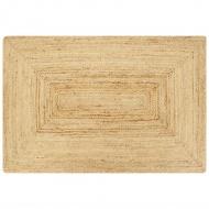 Ręcznie wykonany dywan, juta, naturalny, 120x180 cm
