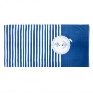 Ręcznik plażowy 70x140cm Kotwica 3 biało-niebieski