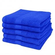 Ręczniki, 5 szt., bawełna, 500 g/m², 70x140 cm, szafirowe