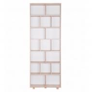 Regał 215x80 Durbas Style Kółko Krzyżyk biały