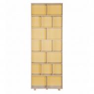 Regał 215x80 Durbas Style Kółko Krzyżyk żółty