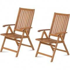 Regulowane krzesła ogrodowe 2 szt. Fieldmann FDZN 4001-T