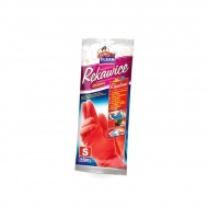 Rękawice domowe z bawełnianą wyściółką S Gosia różowe