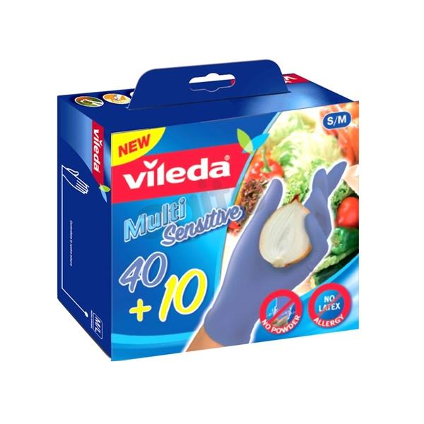 Rękawice jednorazowe 50 szt. S/M Vileda Multi Sensitive 4023103165793