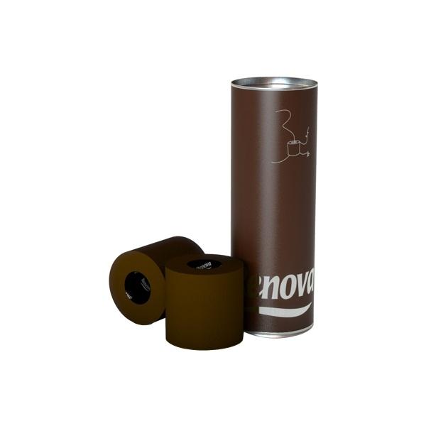 RENOVA 3szt Tuba Brązowy Portugalski Papier toaletowy 5601028016711