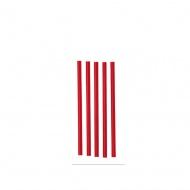 Rurki krótkie 15 cm (op. 200 szt) czerwony