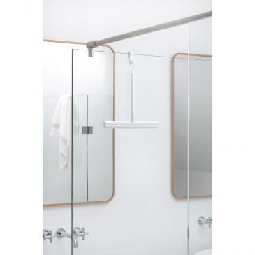 Ściągaczka prysznicowa z uchwytem ReNew biała 280184