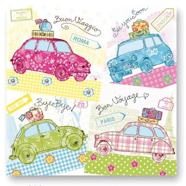 Serwetki stołowe Nuova R2S 20 szt. 414 CARS