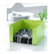 Serwetnik 17x17x8,5cm Steel-Function zielony