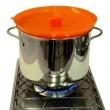 Silikonowe sitko do gotowania na parze Steamy Pavoni pomarańczowy STEAMYTARS