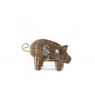 Skarbonka Rustic Rattan Piggy 14x20x32 cm Riviera Maison