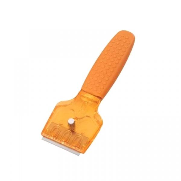 Skrobak do płyt ceramicznych 16 cm Kuchenprofi pomarańczowy KU-1310230000-POM
