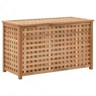 Skrzynia na pranie, 77,5x37,5x46,5 cm, lite drewno orzechowe