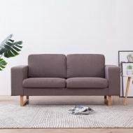 Sofa 2-osobowa, tapicerowana tkaniną, taupe