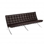 Sofa 3 osobowa BA3 D2 brązowa skóra TP
