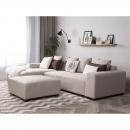 Sofa beżowa - sofa narożna R - tapicerowana - LUNGO