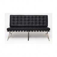 Sofa ekoskóra 75x150x78 cm D2.Design Barcelona czarna