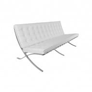 Sofa ekoskóra 79x180x79 cm D2.Design Barcelona biała