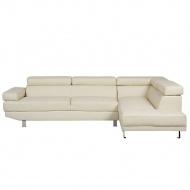 Sofa narożna skóra ekologiczna beżowa NORREA