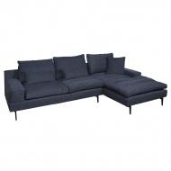 Sofa narożna Vipera z otomaną prawą 292x176x75 cm