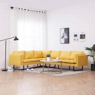 Sofa narożna, żółta, materiałowa