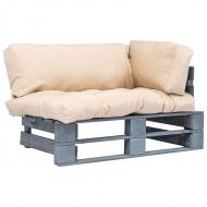 Sofa ogrodowa z palet z piaskowymi poduszkami, drewno FSC