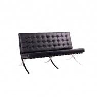 Sofa pikowana 2 osobowa King Bath Barcelon czarna