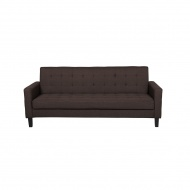 Sofa rozkładana ciemnobrązowa VEHKOO