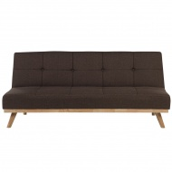 Sofa rozkładana tapicerowana brązowa FROYA