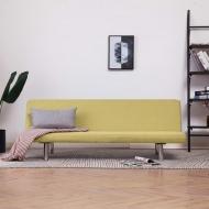 Sofa, rozkładana, zielona, poliester