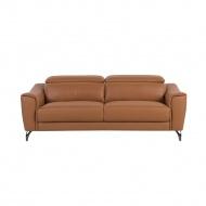 Sofa skórzana złoty brąz NARWIK