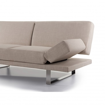 Sofa Z Funkcją Spania Beżowa Kanapa Rozkładana Wersalka Coluzzi