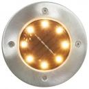 Solarne lampy gruntowe, 8 szt., ciepłe białe LED
